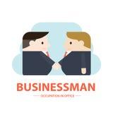 De illustratie van zakenlieden schudt handen Stock Afbeeldingen