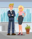 De Illustratie van zakenmanpersonal assistant flat royalty-vrije illustratie