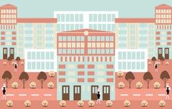 De illustratieachtergrond van Minimalism abstracte stedelijke scenics stock illustratie