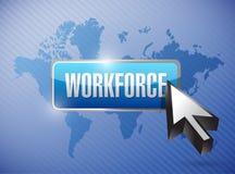 De illustratieontwerp van de aantal arbeidskrachtenknoop stock illustratie