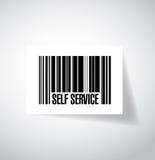 de illustratieontwerp van de zelfbedieningsstreepjescode royalty-vrije illustratie