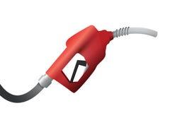 De illustratieontwerp van het benzinepomphandvat over een wit Royalty-vrije Stock Foto