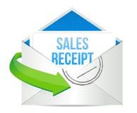 De illustratieontwerp van het e-mailverkooprapport Stock Fotografie