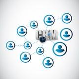 de illustratieontwerp van het mensen crm netwerk Stock Foto