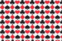 De illustratiepatroon van gokkenkaarten met een witte achtergrond vector illustratie