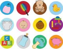 De illustratiereeks van de baby Stock Fotografie