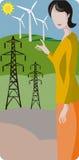 De illustratiereeks van de ecologie stock illustratie