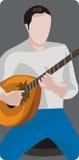 De illustratiereeks van de musicus Stock Fotografie