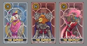 De illustratiereeks van de tarotkaart vector illustratie