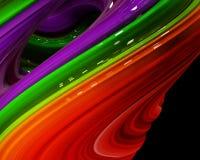 De illustratieregenboog van kleuren vat kleurrijk op zwarte achtergrond samen Stock Foto's