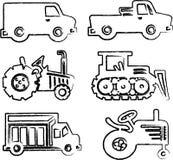 De illustraties van auto's Royalty-vrije Stock Afbeeldingen