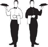 De illustraties van de kelner - de dienst vector illustratie