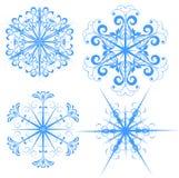 De illustraties van de sneeuwvlok Stock Afbeeldingen