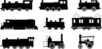 De illustraties van de trein Stock Afbeeldingen
