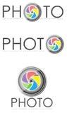 De illustraties van het fotoembleem Stock Fotografie