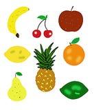 De illustraties van het fruit die op wit worden geïsoleerdp Stock Afbeeldingen