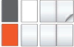 De illustraties van het notitieboekje Royalty-vrije Stock Foto's