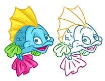 De Illustraties van het vissenbeeldverhaal Stock Afbeelding