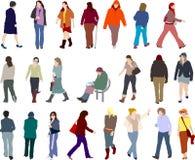 De illustraties van mensen Royalty-vrije Stock Afbeeldingen