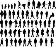 De illustraties van mensen Stock Afbeeldingen