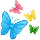 De illustratiesvector van de vlinder Stock Fotografie