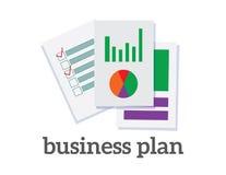 De illustratievector van het businessplan royalty-vrije illustratie