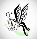 De illustratievector van het feebeeldverhaal royalty-vrije illustratie