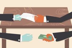 De illustrator conceptueel beeldverhaal van de corruptietekening royalty-vrije illustratie