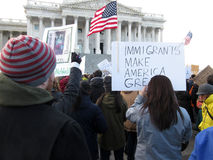 De immigranten maken Amerika Groot Stock Foto's