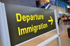 De immigratie van het vertrek stock foto