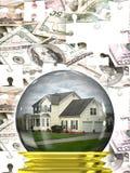 De Immobiliënmarkt van onroerende goederen Royalty-vrije Stock Afbeelding