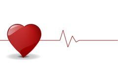De Impuls van het hart, VectorDossier. Stock Afbeelding