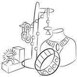De inbare Tekening van de Juwelen van Antiquiteiten vector illustratie