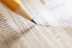 De Index van de voorraad Stock Afbeeldingen