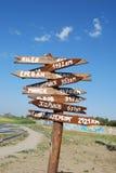 De index van steden Stock Foto