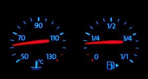 De Indexen van de brandstof en van de Temperatuur Royalty-vrije Stock Foto