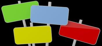 De indexen van de kleur stock afbeeldingen