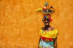 哥伦比亚的妇女在卡塔赫钠de Indias 免版税库存图片