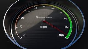 De indicator van de netwerksnelheid Stock Fotografie