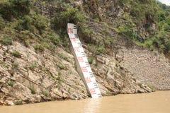 De indicator van de waterspiegel stock afbeelding