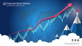 De indicator van de kandelaarstrategie met stijgend en à la baisse overspoelend patroon vector illustratie