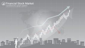 De indicator van de kandelaarstrategie met stijgend en à la baisse overspoelend patroon stock illustratie
