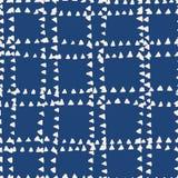 De indigo naadloos patroon van de bandkleurstof vector illustratie