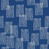 De indigo naadloos patroon van de bandkleurstof Vector Japanse shiboridruk vector illustratie