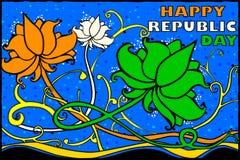 De Indische achtergrond van de de Dagviering van de Republiek stock illustratie