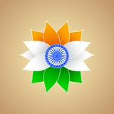 De Indische Bloem van de kleur van de Vlag Royalty-vrije Stock Foto's