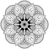 De Indische bloem van de Mehndihenna Elementenmandala voor tatoo of kaart royalty-vrije stock foto's