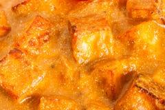 De Indische Botermasala Close-up van Paneer stock fotografie