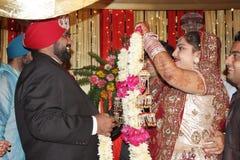 De Indische ceremonie van het Huwelijk Royalty-vrije Stock Foto's