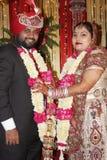 De Indische ceremonie van het Huwelijk Stock Afbeeldingen